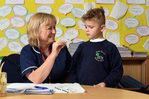 Julie King, Nurse and Regan Palmer pupil at Ley Top